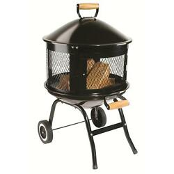 Fire Pit Table Patio Outdoor Fireplace Wood Burning Backyard Yard Heater Stove