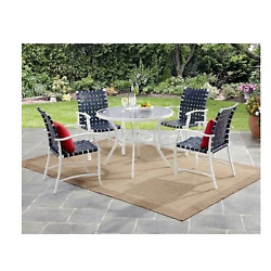 Patio Dining Set 5 Piece Deck Lawn Yard Garden Outdoor Furniture Table Chairs
