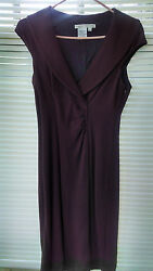 Maggy London brown shift dress formal cocktail wear to work $12.00