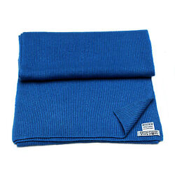 100% Cashmere Scarf for men Knitted ribbed cashmere Soft Mongolian Yarn Blue