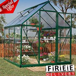 Greenhouse Kit 6x6x7' Portable Walk In Polycarbonate Panel Plant Outdoor Garden