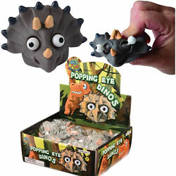 Popping Eye Dinosaur Squishy Smooshy Gag Novelty Pack of 12X $21.95