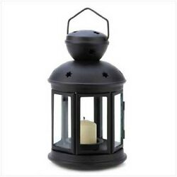 Gifts and Decor Black Colonial Style Candle Holder Hanging Lantern Lamp