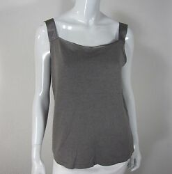 Loose Threads By Virginia Moreno Silk Cashmere Sleeveless Blouse Size M Gray