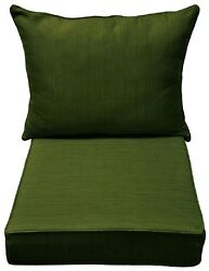 Allen Roth Green Texture Outdoor Patio Furniture Cushion For Deep Seat Chair NEW