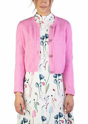 Miu Miu Women's Cashmere Jewel Buttoned Cardigan Pink
