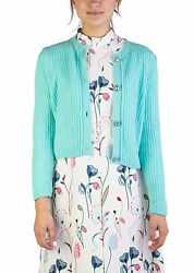 Miu Miu Women's Cashmere Jewel Buttoned Cardigan Aqua