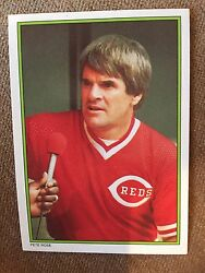 1986 Pete Rose All Star Set Card 51 Glossy $500.00