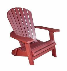 Phat Tommy Recycled Poly Resin Folding Deluxe Adirondack Chair  Durable and P...