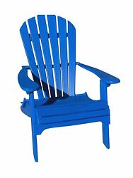 Phat Tommy Recycled Poly Resin Folding Adirondack Chair  Durable and Nature-F...