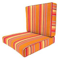 Lounge Chair Cushion Pad Orange Stripe Patio Indoor Outdoor Deck Chaise Padding