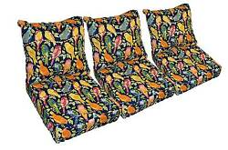 Blue Garden Birds Cushions for Patio Outdoor Deep Seating Furniture Sofa Couch