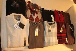 Lot of 95 Men's Sweaters- New (Shelf Pulled from Macy's) - 75% off Retail Price