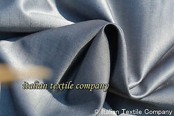 AA12 STUNNING SUPER FINE MOHAIR&WOOL BLEND SLIVER BLUE PIN STRIPE MADE IN ITALY