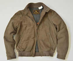 $5795 LORO PIANA QUILTED SOULFLY CASHMERE-LINED LEATHER BOMBER JACKET COAT XXL