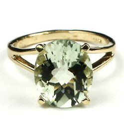 Green Amethyst Solid 10KY or 14KY Gold Ladies Ring R132-Handmade