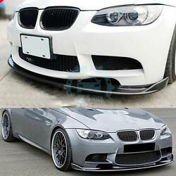 1pc Auto Front Lips Body Kits Exterior Trim Carbon Fiber For BMW 3-Series E92 M3
