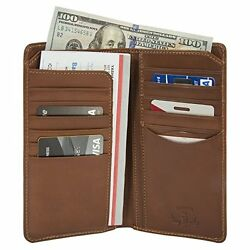 Tony Perotti Mens Italian Cow Leather Bifold Checkbook Breast Pocket Wallet in