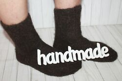 Men SOCKS Hand Knitted 100% pure natural SHEEP WOOL L 5XL Woolen thick warm $8.00