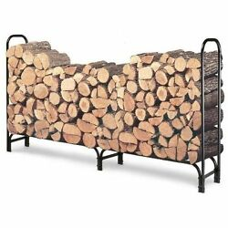 Rack Log Firewood Wood Storage Holder Outdoor Heavy Steel Fireplace Indoor Fire