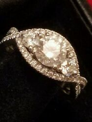 HEARTS ON FIRE significance 1.11 CT center   1.82 ctw sz 7.75 looks like 3 ctw