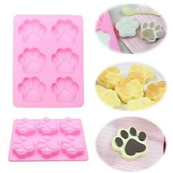 Dog Cat Paw Print Silicone Cake Mold Candy Chocolate Mold Soap Ice Cube Mould