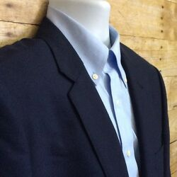 J Crew Ludluw Navy Blue 100% Italian Cashmere Men's 44R Two Button Sport Coat