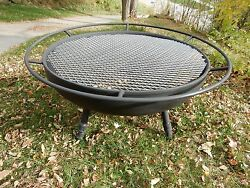 FIRE PIT  Thick  SOLID STEEL   Fire Pit  Grill