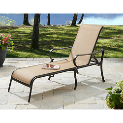Patio Chaise Lounge Chair Aluminum Outdoor Lounger Adjustable Folding Recliner