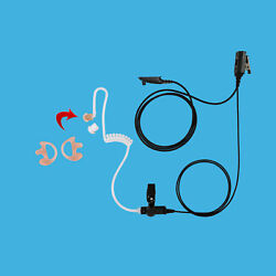 Clear Transmit 1-Wire Clear Tube Headphone with Earmold for Motorola HT1550 XLS $22.00