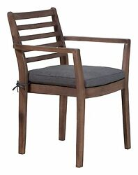 Modern Designer  Outdoor Patio Dining Chair ( Set of 2 ) Brown Fabric 3107