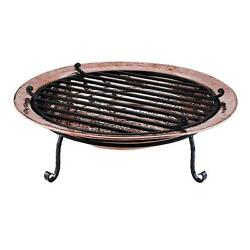 Outdoor Copper Fire Pit Bowl Wood Burning Backyard Deck Patio Heater Fireplace
