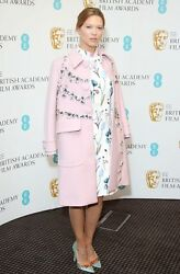 PRADA RUNWAY Rare Pink Coat with large jewels NEW. Worn by Lea Seydoux FALL 2014