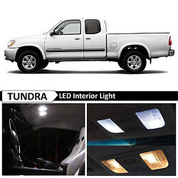 15pcs White Interior LED Lights Bulbs Package Fits Toyota Tundra 2000 2006