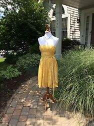 BCBG MAX AZRIA GOLD SILK DRAPED STRAPLESS  COCKTAIL PARTY DRESS SIZE: 4