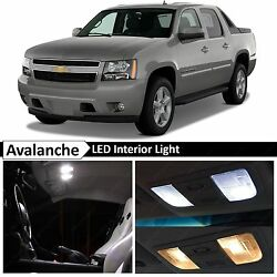 Fits 2007-2014 Chevy Avalanche White Interior + License LED Lights Package Kit $16.89