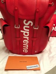 Louis Vuitton x Supreme Christopher Backpack - Red Leather - SOLD OUT IN HAND