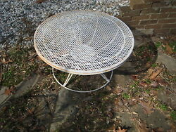 VINTAGE MIDCENTURY HOMECREST SWIVEL PATIO COFFEE TABLE