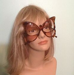 Rare Vtg Anglo American Optical Butterfly Faux Tortoise Shell Frame Sunglasses