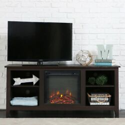 Essential Espresso Fire Place Entertainment Center TV Stands Free Shipping