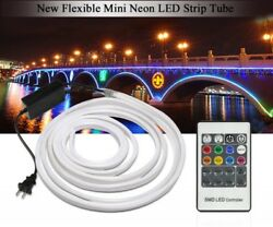 RGB LED Neon Strip AC220V Dimmer Waterproof Flexible Ribbon Outdoor Rope KIT New