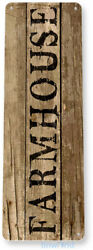 Farm House Kitchen Cottage Farm Barn Metal Rustic Decor Tin Sign B761 $6.95