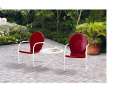 Outdoor Bistro Set 3 Pc 2 Seats Garden Patio Lawn Table & Chairs Retro Durable