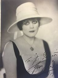 THEDA BARA autographed and inscribed -- 1919 -- Uncommon -- Pristine