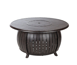 Extruded Aluminum Round Fire Pit Table LPG Outdoor Patio Fireplace Garden Heater