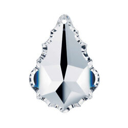 5 Pieces Swarovski STRASS 38mm Clear Pendeloque 1 Hole Chandelier Crystal Parts $27.60