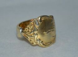 Vintage Gold Plated Stainless Spoon Ring