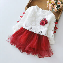 Baby Dress Princess Infant Party Dresses for Girls Autumn Toddler Girl Clothes $12.80