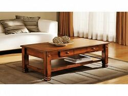 Solid Wooden Coffee Table W Drawer Heavy Timber Cabin Rustic Mountain Organic