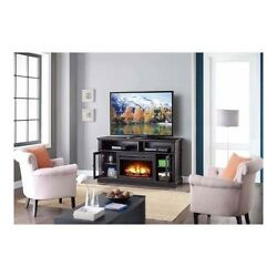 Electric Fireplace TV Stand Entertainment Unit Screen Bedroom Over Furniture Set